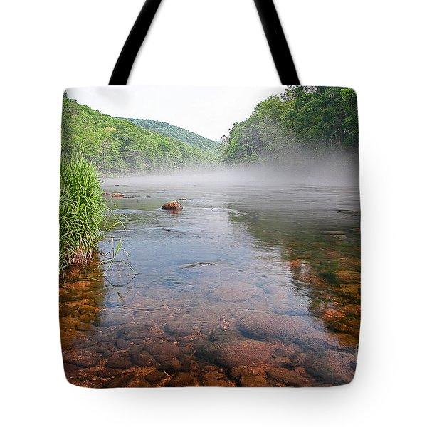 June Morning Mist Tote Bag