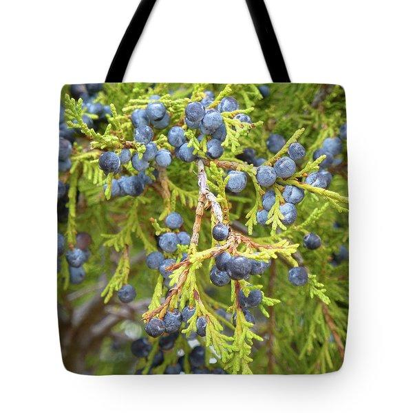 Juniper Berries Tote Bag