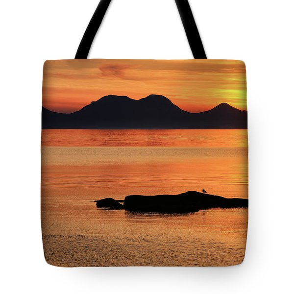 Jura Sunset Tote Bag