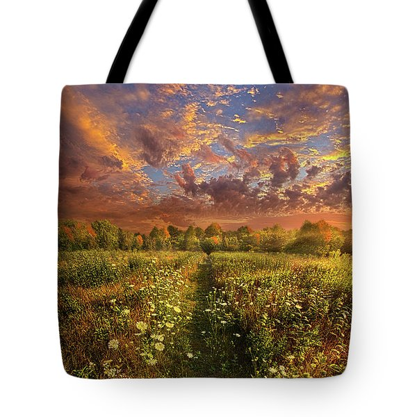 Tote Bag featuring the photograph Just Follow Your Feet by Phil Koch