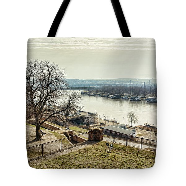 Tote Bag featuring the photograph Kalemegdan Park Fortress In Belgrade by Milan Ljubisavljevic