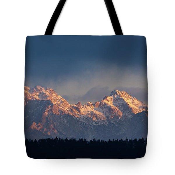 Kamnik Alps In The Morning. Tote Bag
