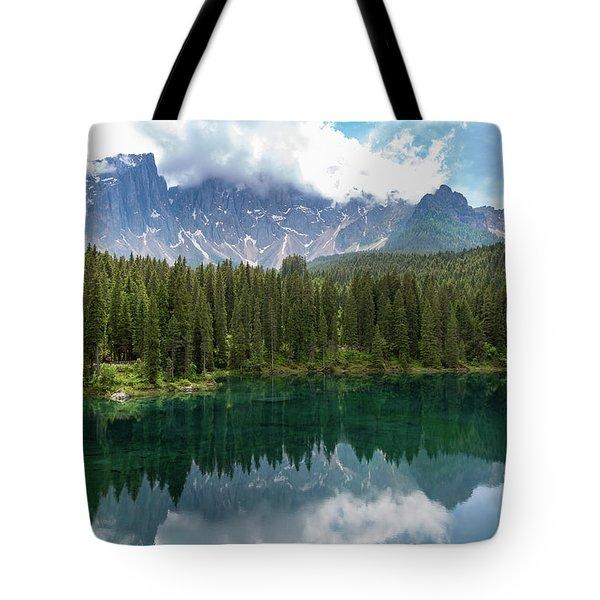 Karersee And Latemar Tote Bag