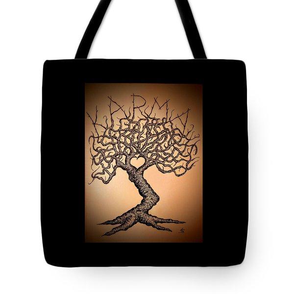 Karma Love Tree Tote Bag
