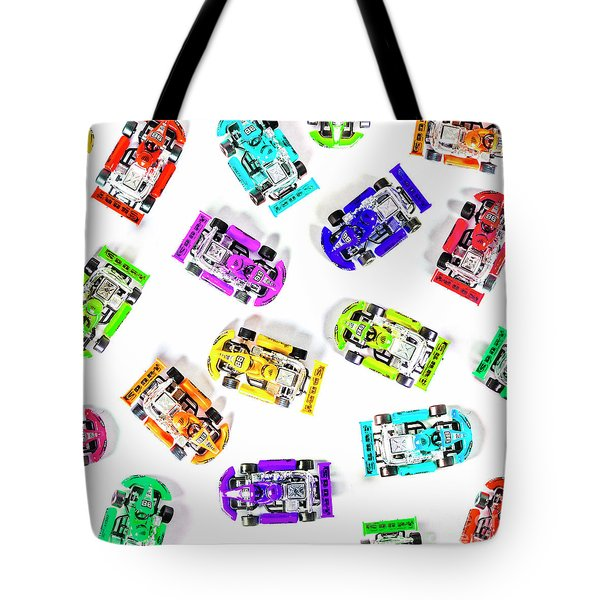 Karting Patterns Tote Bag
