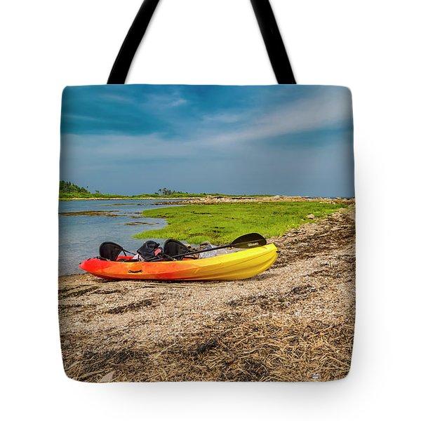 Kayaking Adventure In Maine Tote Bag