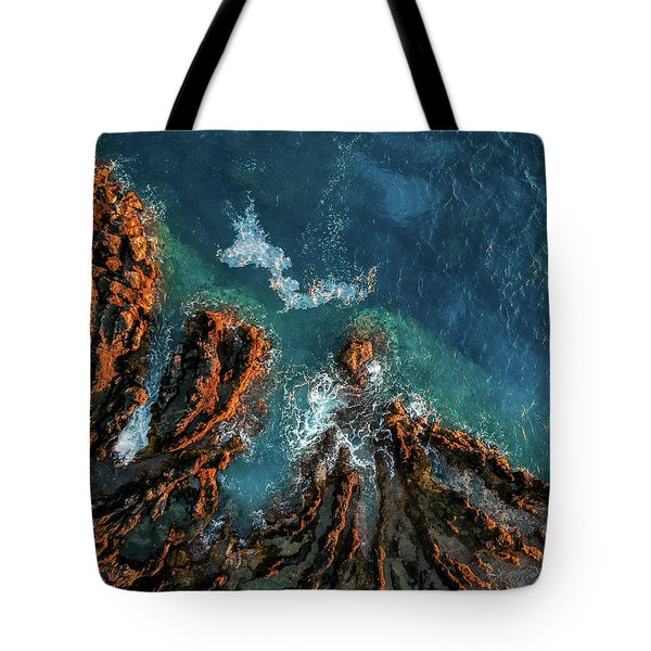 Keauhou Blues And Reds Tote Bag