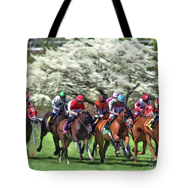 Keeneland Down The Stretch Tote Bag