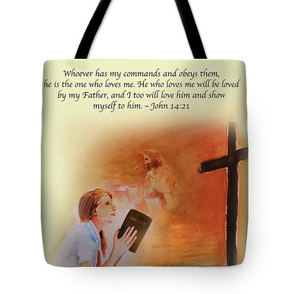 Keeps My Commandments Tote Bag