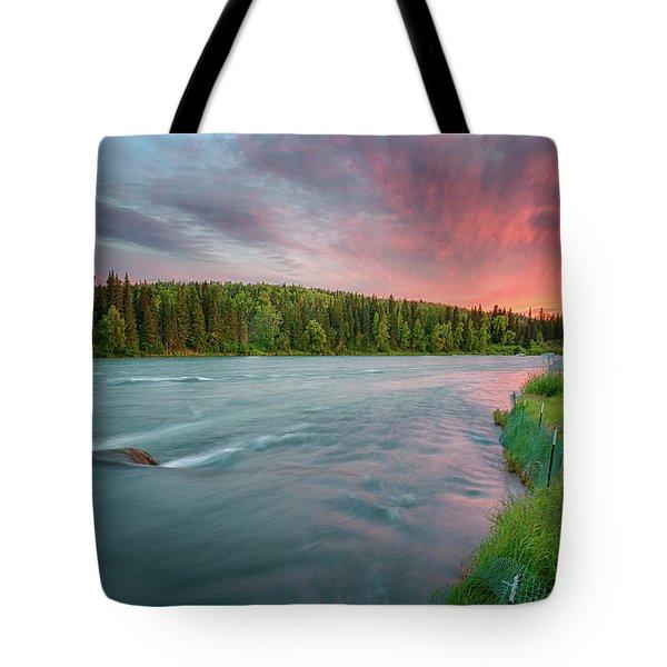 Kenai River Alaska Sunset Tote Bag