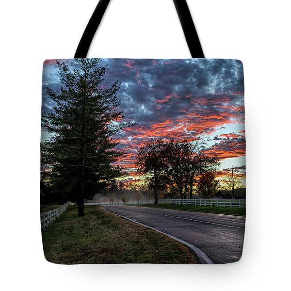 Tote Bag featuring the photograph Keswick Sunset by Lori Coleman