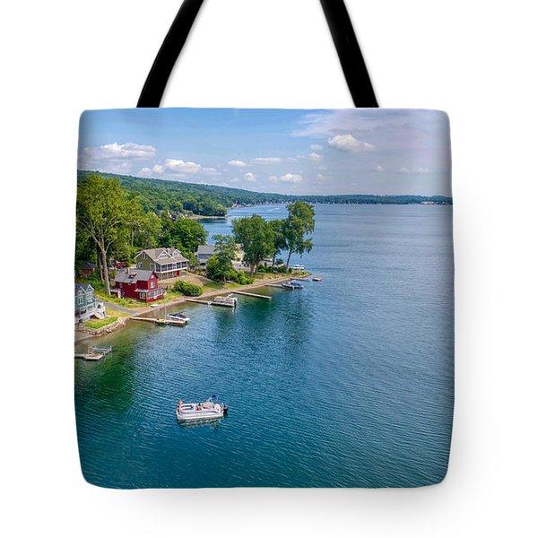 Keuka Boat Day Tote Bag