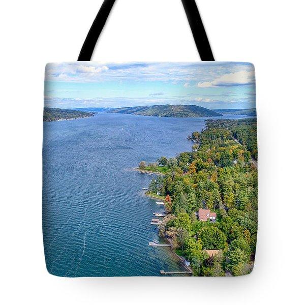 Keuka Center Point Tote Bag