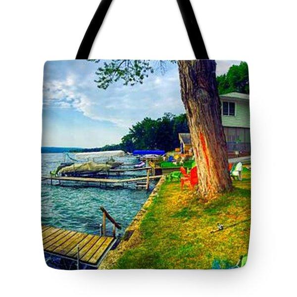 Keuka Lake Mornings Panorama Tote Bag