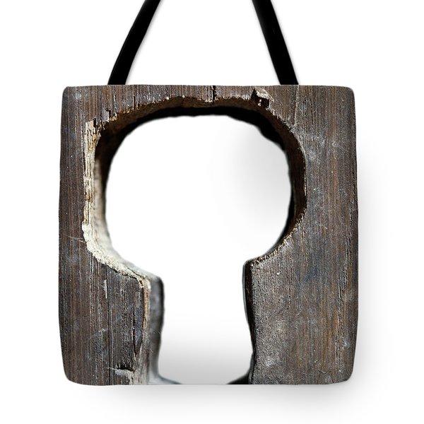 Key Hole In Old Door Tote Bag