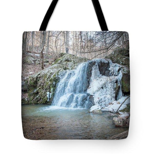 Kilgore Falls In Winter Tote Bag