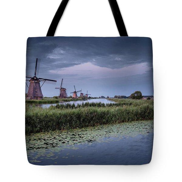 Kinderdijk Dark Sky Tote Bag