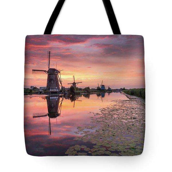 Kinderdijk Sunset Tote Bag