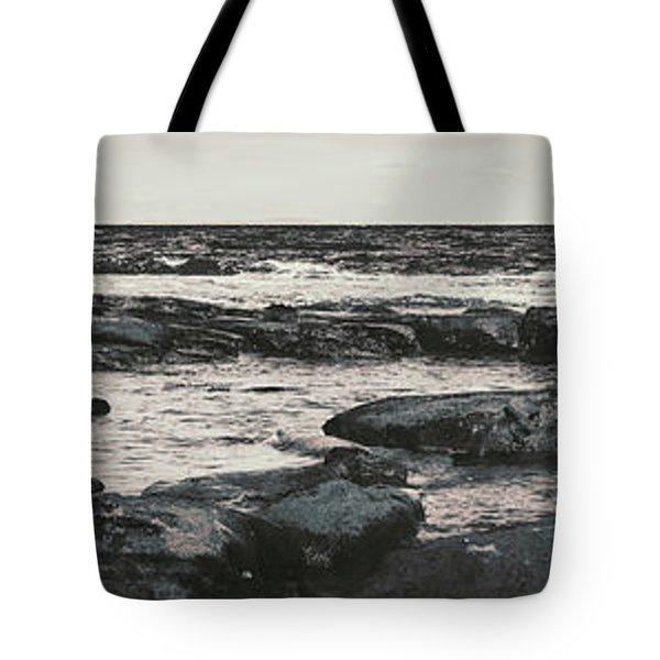 Kings Beach Rocky Panoramic Tote Bag
