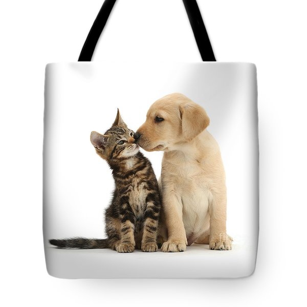 Tote Bag featuring the photograph Kisses For My Darling by Warren Photographic
