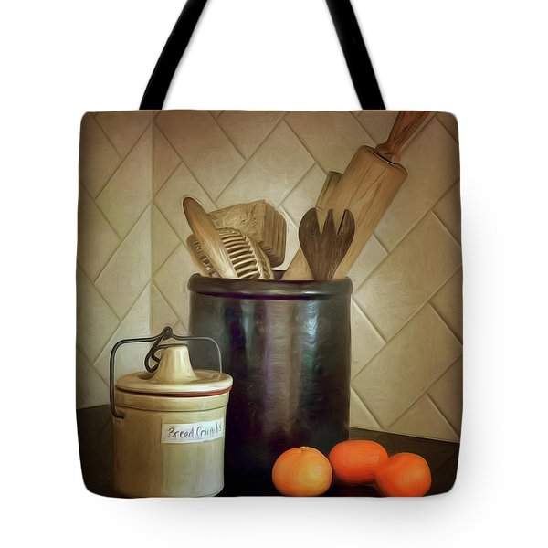 Kitchen Utensils - Bread Crumbs - Mandarin Oranges Tote Bag