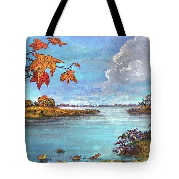 Kites, Clouds And Sailboats Tote Bag