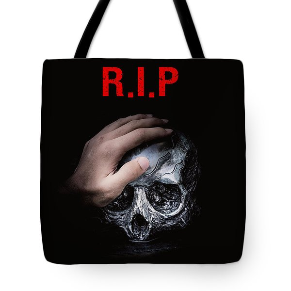 Tote Bag featuring the digital art Knife Crime Part 3 - Rest In Peace by ISAW Company