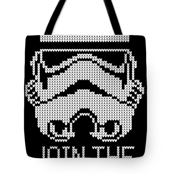 Knitted Storm Trooper - Join The Empire Tote Bag