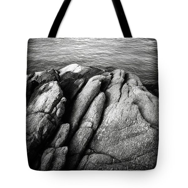 Ko Samet Rocks In Black Tote Bag