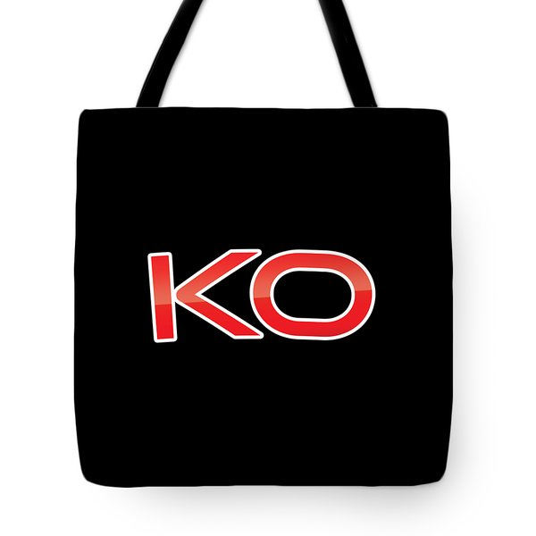 Tote Bag featuring the digital art Ko by TintoDesigns