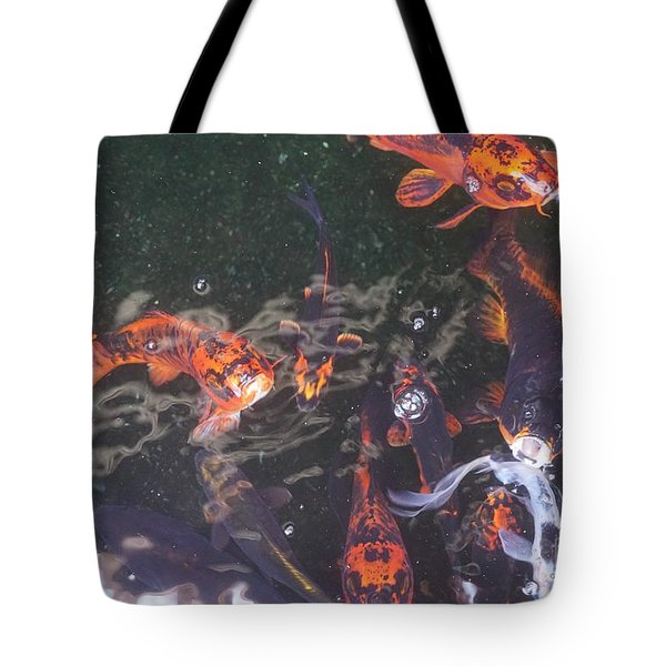 Koi In A Pond Tote Bag