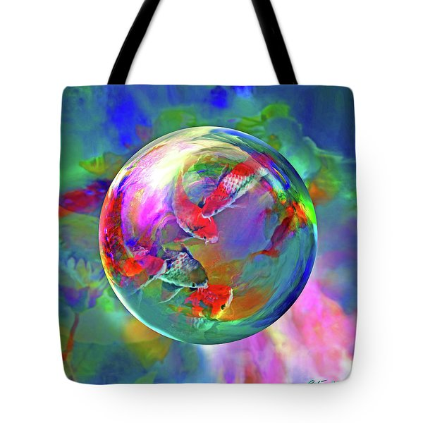 Koi Pond In The Round Tote Bag
