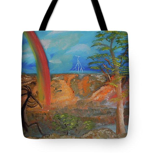 Kokopelli Calls The Storm Tote Bag