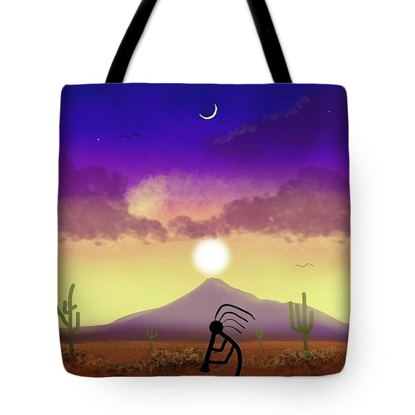 Kokopelli Dream World Tote Bag