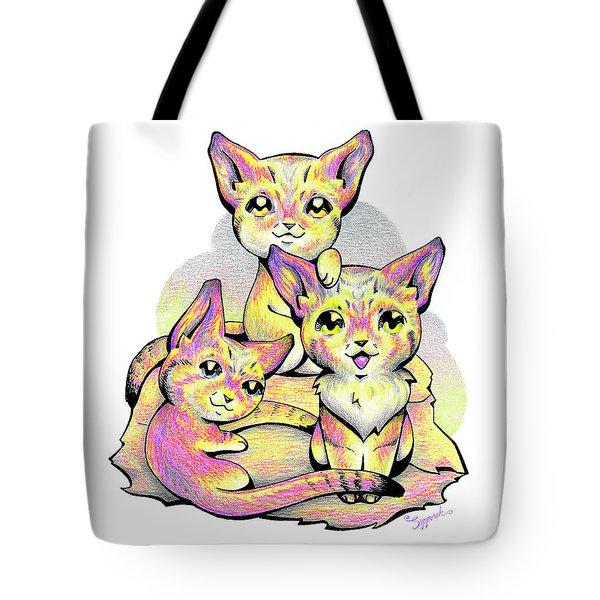 Kolorful Kitties Tote Bag