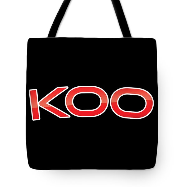 Tote Bag featuring the digital art Koo by TintoDesigns