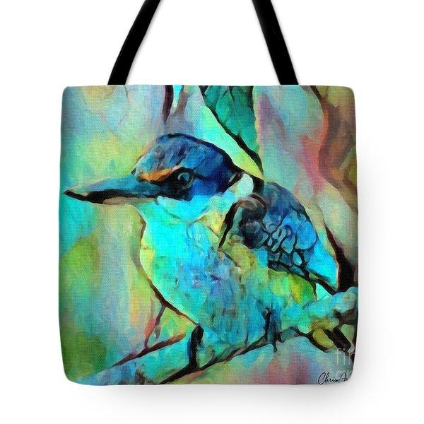 Kookaburra Blues Tote Bag