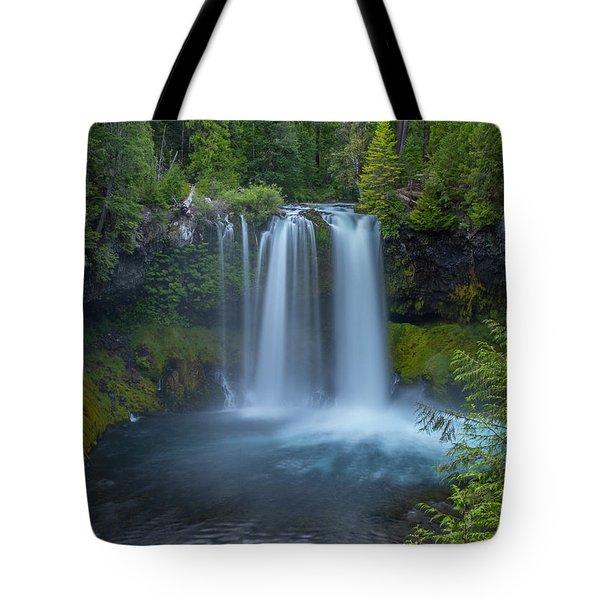 Tote Bag featuring the photograph Koosah Falls, Summer by Matthew Irvin