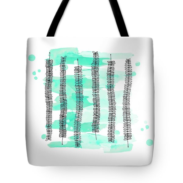 Kowhai Branches In Mint Green Watercolor Tote Bag