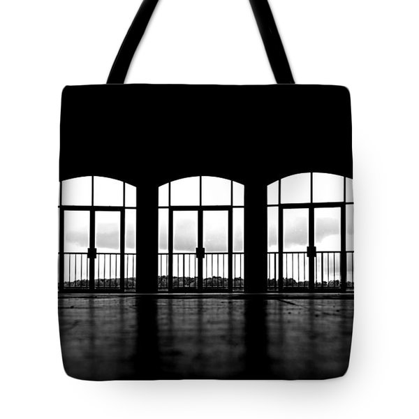 Tote Bag featuring the photograph Kresge Stage by SimplyCMB