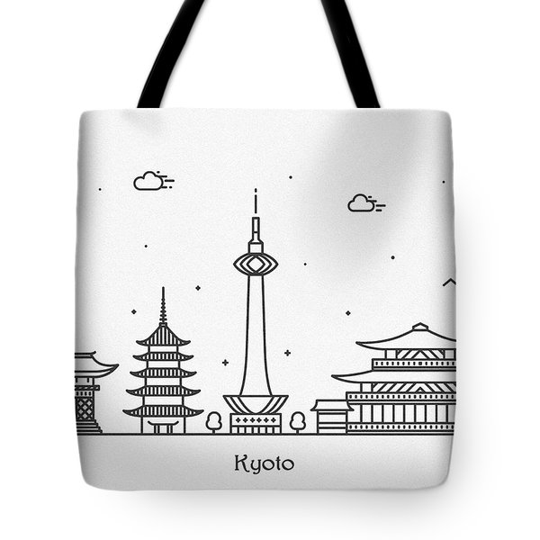 Kyoto Cityscape Travel Poster Tote Bag