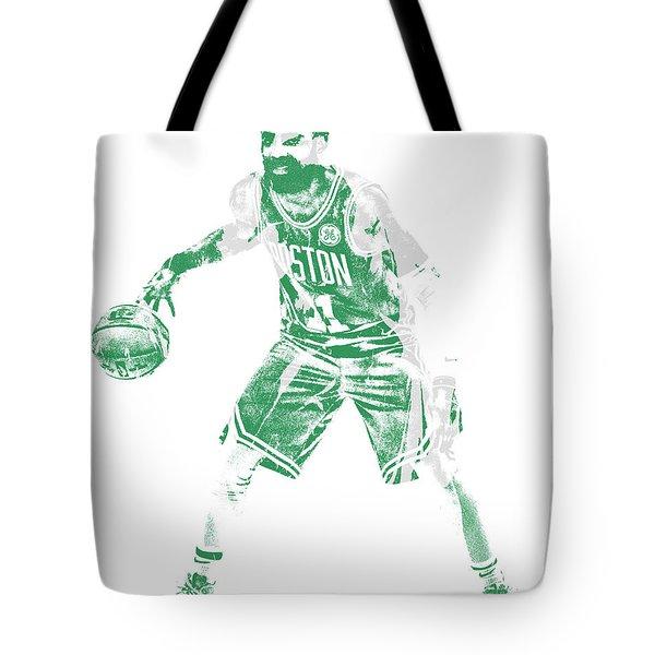 Kyrie Irving Boston Celtics Pixel Art 72 Tote Bag