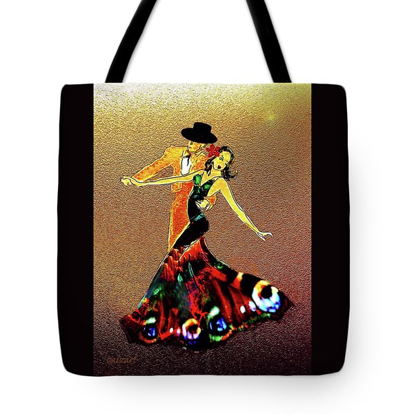 Tote Bag featuring the painting La Fiesta by Valerie Anne Kelly
