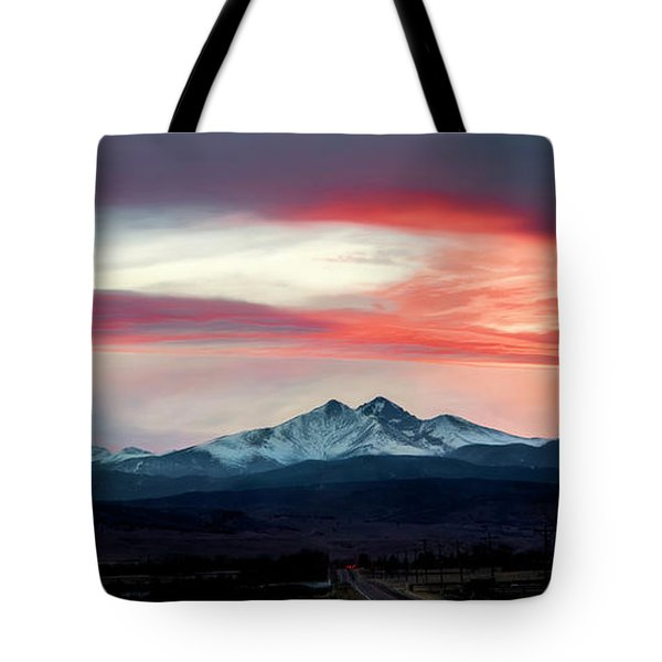 Ladies In The Sky Winter Sunset Tote Bag