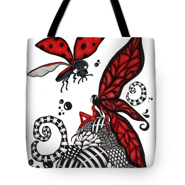 Lady Bug Fairy Tote Bag
