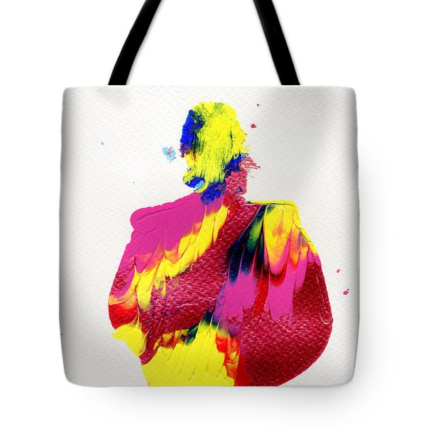 Tote Bag featuring the painting Lady Dressed In A Ballroom Gown by Bee-Bee Deigner