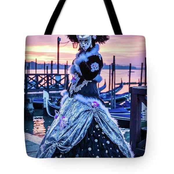 Lady In Black Tote Bag