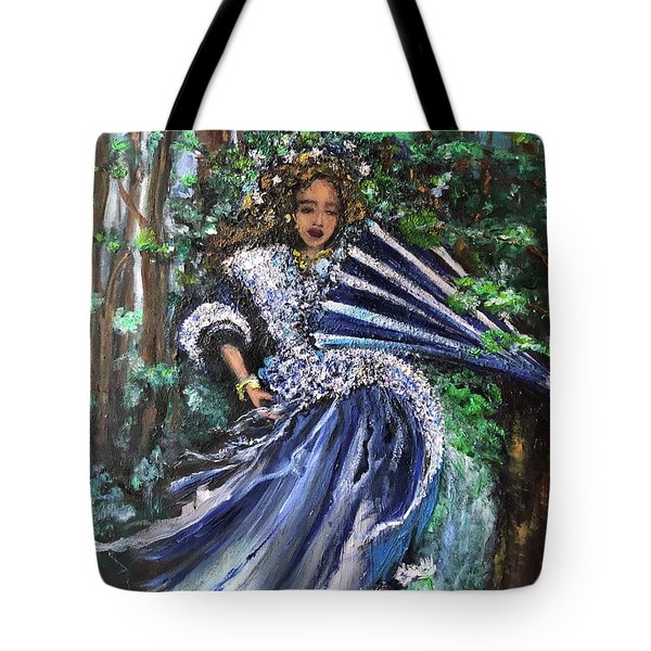 Lady In Forest Tote Bag