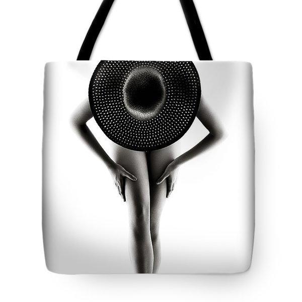 Lady With A Hat Tote Bag