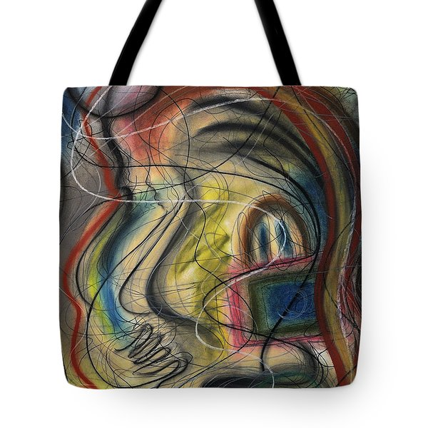 Lady With Purse Tote Bag